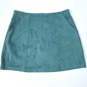 Kendall & Kylie Faux Suede Pencil Skirt MED